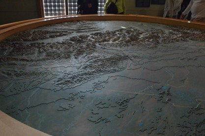 Relief map of the park. We are at the right, looking mostly south in this view.