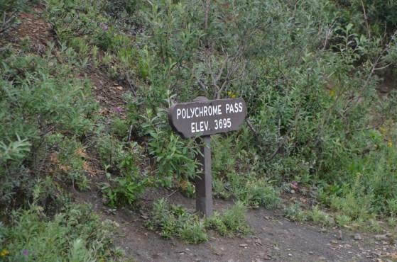 Polychrome Pass, view stop.