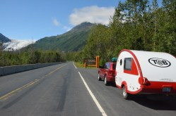 Since I was on my way to Seward the trailer was in tow.