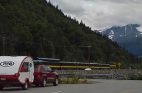 Alaska Railroad Passenger train, likely headed for Whittier or Seward.