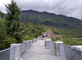 Looking back along the walkway