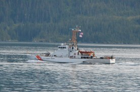 The Coast Guard was out patroling.
