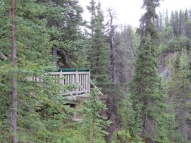 The walkways are neatly perched on the steep sides for a great vantage.