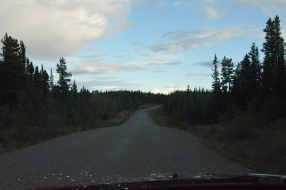 No lane markings makes the road feel narrower