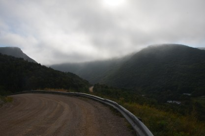 The road to Meat Cove, where the road ends. This is as far north as you can drive on the island.