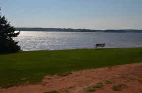 View from common area at KOA near Charlottetown, PEI