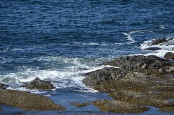 Closeup of the rocks below