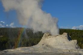 Castle erupting steam
