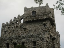 Upper floors, the building actually has a metal frame, the rock is ornamental.