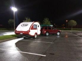 The typical three spot parking job.