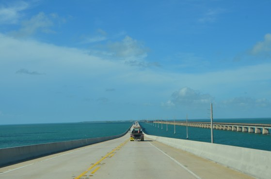 "Scenic ""Overseas Highway"", two lanes and low speed limits for most of it."