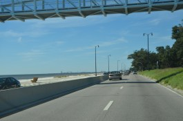 US-90 along the gulf coast near Biloxi