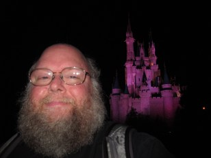 Selfie in the dark.