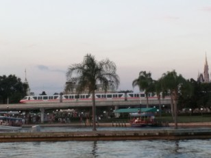 Monorail in front of Magic Kingdom