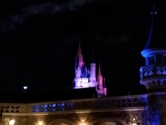 Bright Spot is Tinkerbell sliding down a wire from the top of the castle