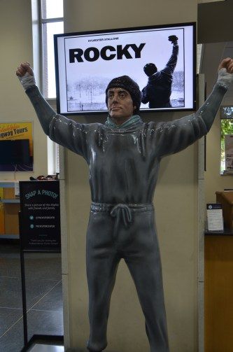 Rocky Statue in the Visitor Center