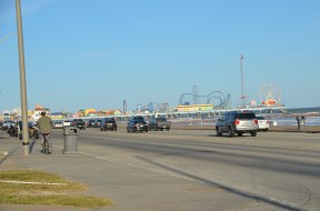 Looking back at the Pleasure Pier