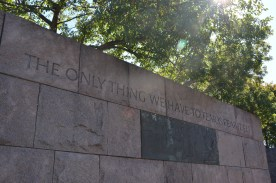 Many quotes carved into the stonework