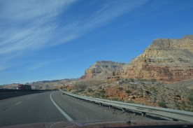 In northern Arizona the road passes through more rugged terrain.
