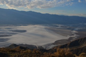 The light areas adjacent to Badwater were covered in water a few weeks ago.