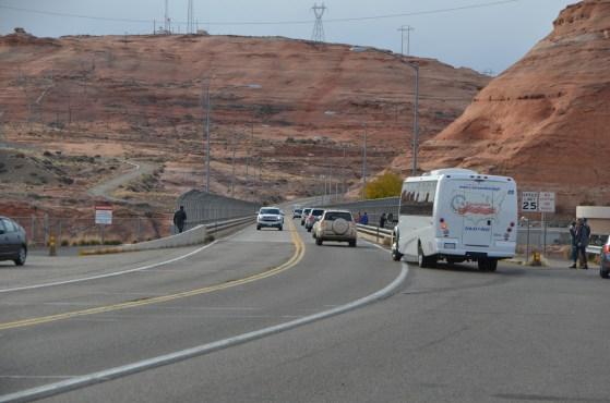 The highway bridge at Glenn Canyon Dam.