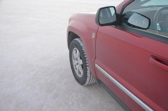 Flat gypsum road