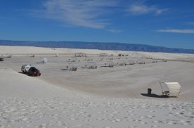 There are several picnic areas. Here's one from the dune nearby.