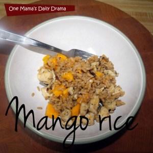 Chicken mango rice recipe | One Mama's Daily Drama