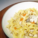 Mom's homemade chicken noodle soup recipe