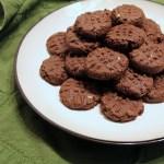 Mint chocolate sugar cookies