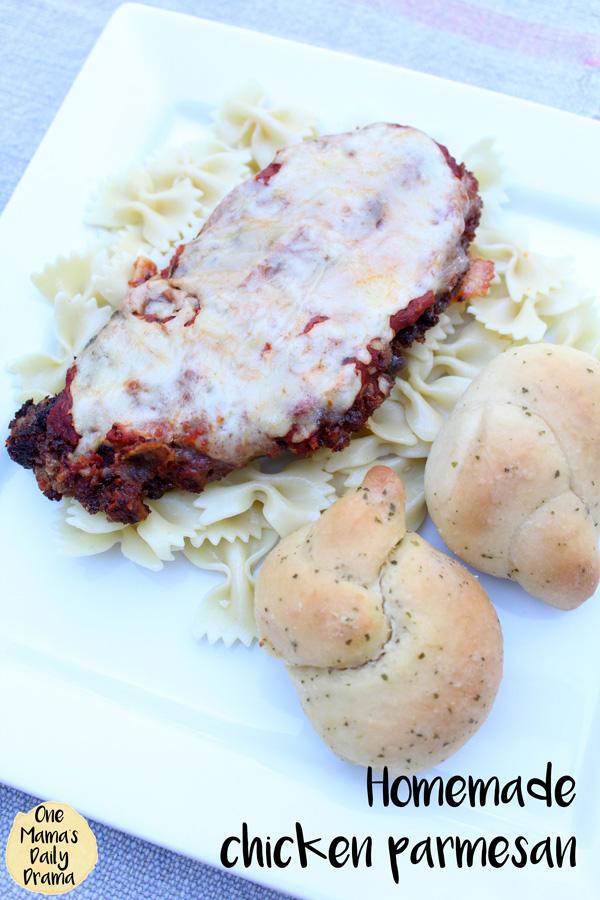 Amazing homemade chicken parmesan recipe