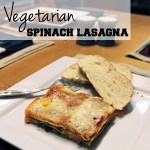 Vegetarian spinach lasagna recipe