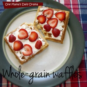 Whole-grain waffle recipe