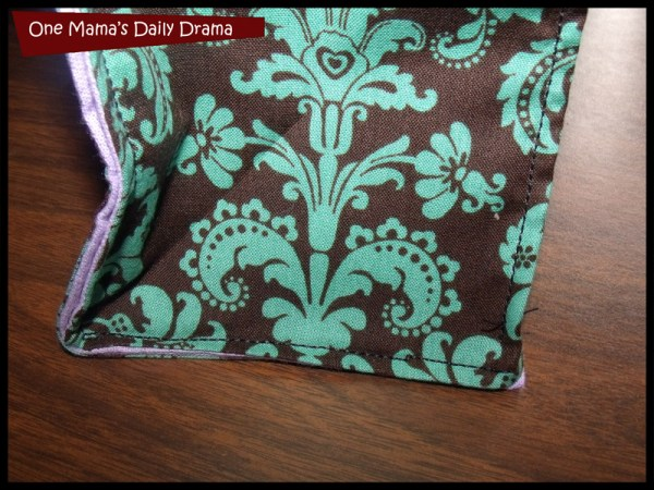fabric lunch bag step 5