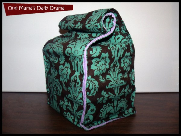 fabric lunch bag finished