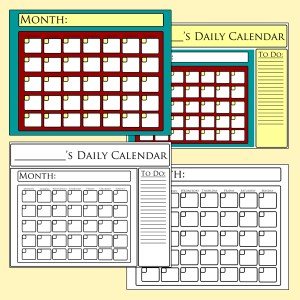 printable calendar for mail organizing station