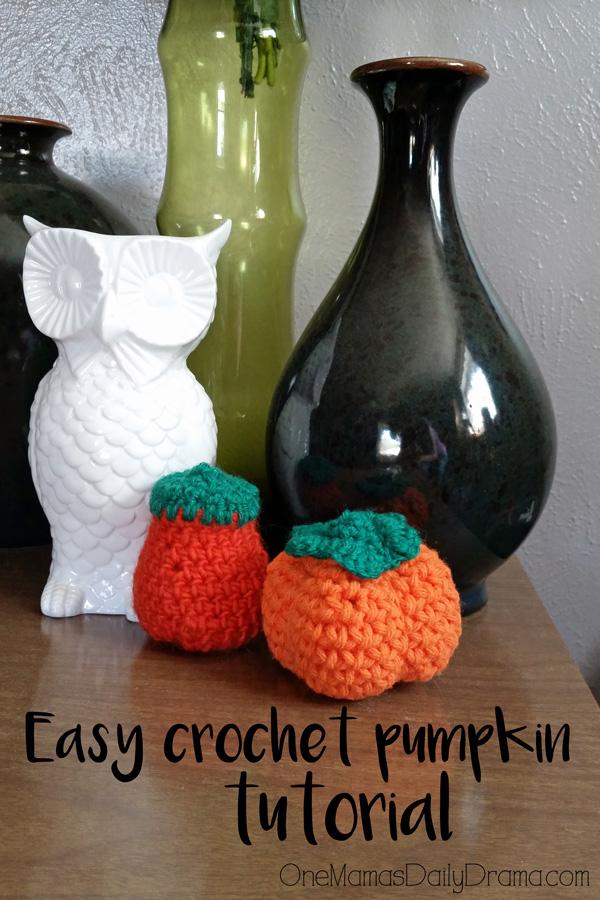 Easy crochet pumpkin tutorial