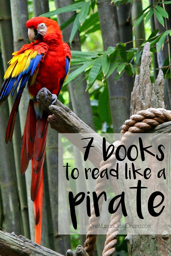 7 books to read like a pirate | Fun family activity for Talk Like a Pirate Day, September 19th