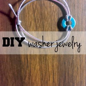 DiY washer jewelry | One Mama's Daily Drama --- Upcycle a handful of washers into a bracelet or necklace, part of the 12 weeks of handmade Christmas gifts series.
