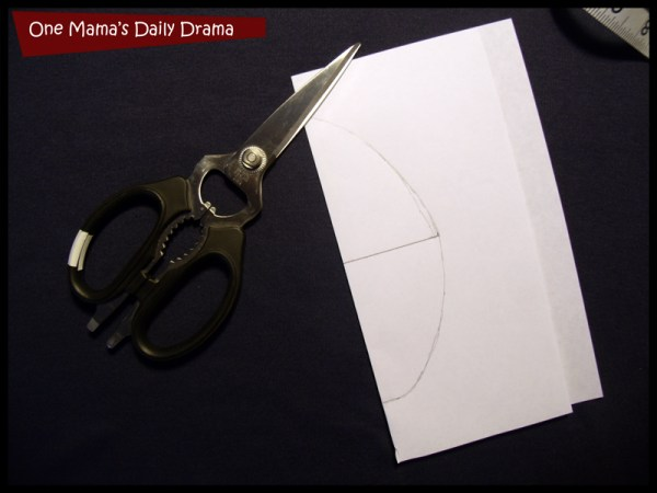 cut out arm hole template