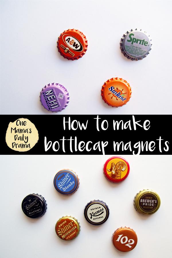 How to make bottlecap magnets / Handmade gift idea