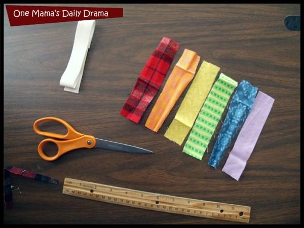 Cut fabric into strips