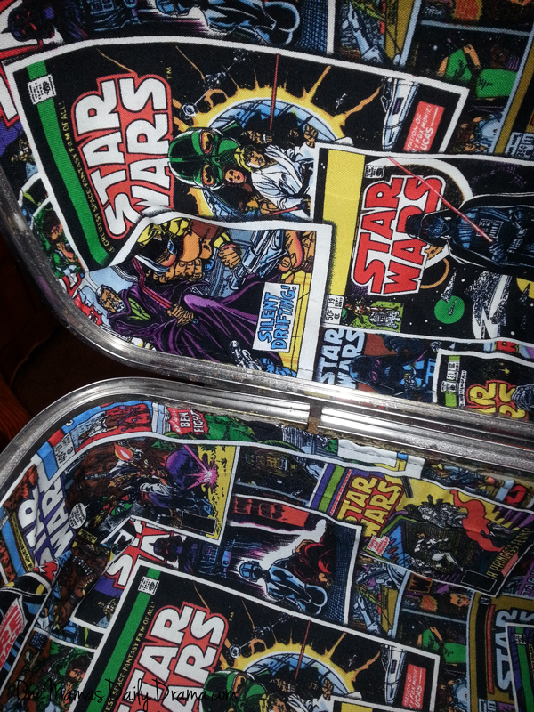 Upcycled Star Wars suitcase DiY | One Mama's Daily Drama --- Update an old Samsonite suitcase with Star Wars fabric for an easy, fab project!