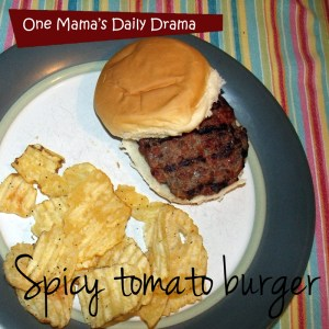 Spicy tomato burger recipe