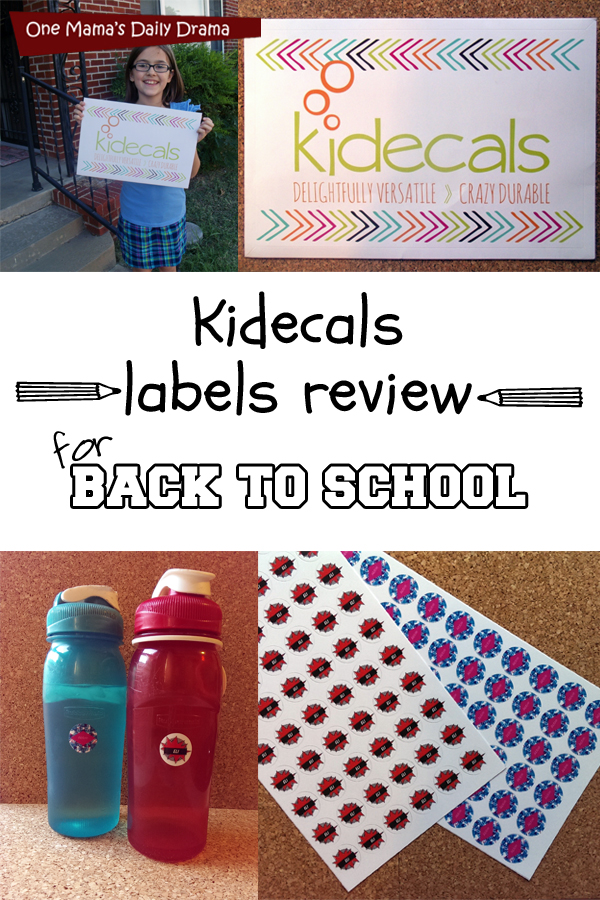 Kidecals: label review for back to school | One Mama's Daily Drama