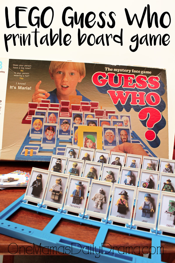 LEGO Guess Who printable board game