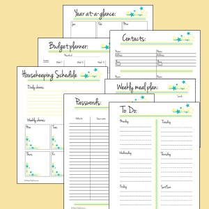 Printable planner pages + calendar