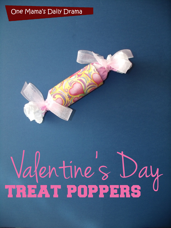 Valentine's Day Treat Poppers: easy holiday craft with a toilet paper tube | One Mama's Daily Drama