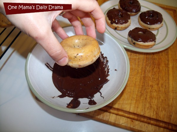 Chocolate cherry baked doughnut recipe | One Mama's Daily Drama