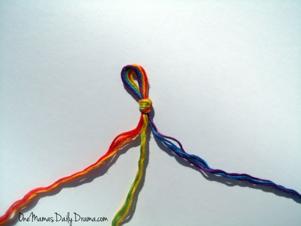 Rainbow friendship bracelets: a fun St. Patrick's Day craft for kids | One Mama's Daily Drama